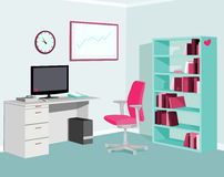 Love Pink Mint Office Stock Photography