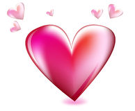 Love, pink and red heart. Love illustration, pink and red heart Royalty Free Stock Photos