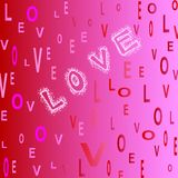 Love pink red white letters Royalty Free Stock Images