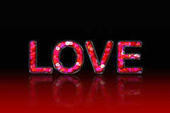 Love Pink Sequin Stock Photography