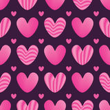 Love pink stripe seamless pattern Royalty Free Stock Photos