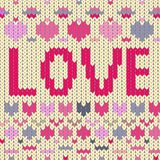 Love pink. Vector graphic illustration design art Stock Photos