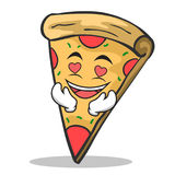 In love pizza character cartoon. Vector illustration Royalty Free Stock Photography