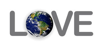 Love Planet Earth the World Royalty Free Stock Image