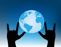 Love the planet.Hand gesture. Royalty Free Stock Image
