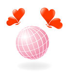 Love-Planet. Vector-Illustration Royalty Free Stock Photo