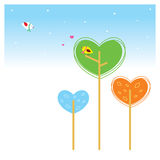Love plant. A couple of bird in he love plant garden Stock Photography