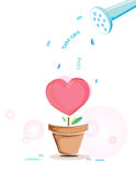 Love plant Stock Photo