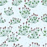 Love plant bird seamless pattern Stock Photos