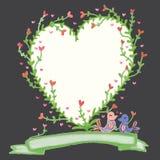Love plant love bird decor stock illustration
