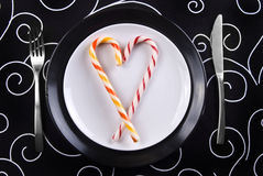Love on the plate Stock Photo