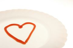 Love on the plate Royalty Free Stock Images