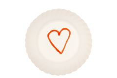 Love on the plate Royalty Free Stock Photo