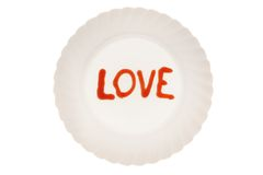 Love on the plate Royalty Free Stock Image