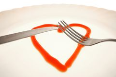 Love on the plate Stock Images