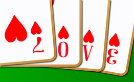 Love Playing Cards Royalty Free Stock Photos