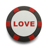 Love Poker Chip Stock Photos