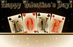 Love poker invitation cards Stock Photos
