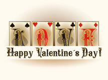 Love poker playing cards Royalty Free Stock Photos