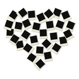 Love Polaroid heart. Polaroid love frames  illustration Royalty Free Stock Photos
