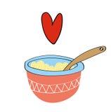 We Love Porridge Stock Images