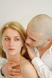 Love pose. Men and women in love Royalty Free Stock Image