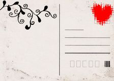 Love post card. Love grunge post card background vector illustration