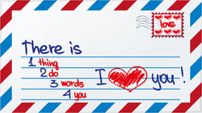 Love post card Royalty Free Stock Image