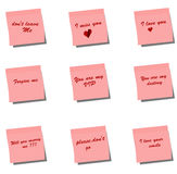 Love Post it Note Royalty Free Stock Photography