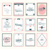 Love postage stamps for Happy Valentines Day celebration. Collection of love postage stamps for Happy Valentines Day celebration Royalty Free Stock Images