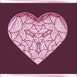 Love postcard design with decorative Valentine heart. Vector illustration Stock Photos