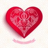 Love postcard design. Valentine heart. Vector illustration Royalty Free Stock Photography