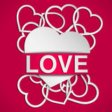 Love poster Stock Images