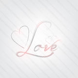 Love poster Royalty Free Stock Images