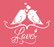 Love poster Royalty Free Stock Photography