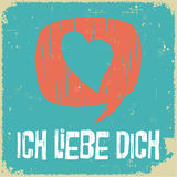 Love poster in German Royalty Free Stock Images