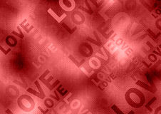 Love poster. Grunge style red background Stock Photos