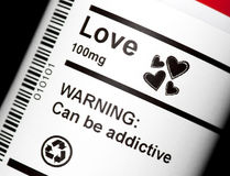 Love Potion. Love in tablet form ready to be dispensed Stock Images