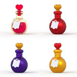 Love Potion Bottle 3D set 1 Royalty Free Stock Images