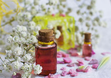Love potion in a bottle. Love potion in a glass bottle stock images