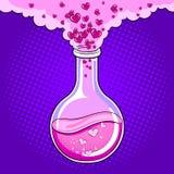 Love potion pop art vector illustration royalty free stock photo