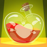 Love potion. Vector illustration Royalty Free Stock Photos