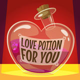 Love potion for you. Vector illustration Stock Photography