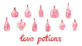 Love potions Stock Photo