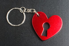 Love present keyring Stock Image
