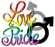 Love and pride poster Royalty Free Stock Image