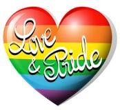 Love and pride on rainbow heart Stock Photo