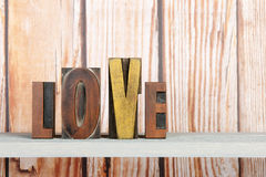 Love in print letters Royalty Free Stock Photos