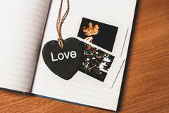 Love Printed Heart Shaped Book Mark Stock Images