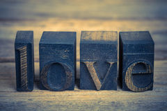 Love in printing blocks Stock Images